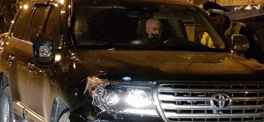 Судья Краснодарского краевого суда Юрий Захарчевский после ДТП. Фото: «Медиазона»