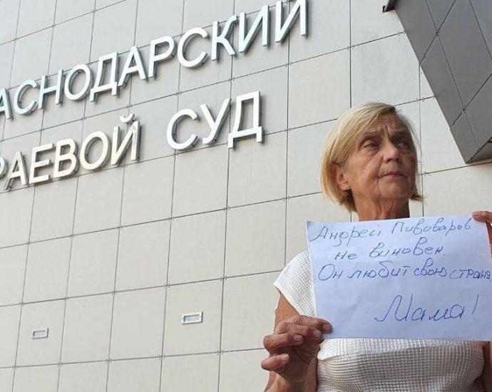 Мама Андрея Пивоварова. Фото: Алексей Обухов / SOTA